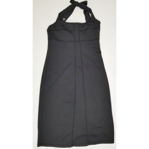 Athleta sizzler black halter fitted dress size 6
